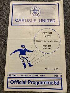 Carlisle v Ipswich 1965/66