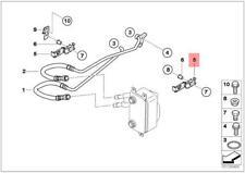 Genuine Radiator Oil cooler Bracket Oil Pipe BMW Alpina X1 X3 X5 X6 17227519270