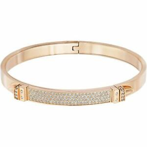 Swarovski Distinct Rose Gold Size Medium Bangle Bracelet 5152481