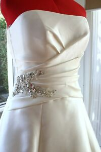 Brand New with Tags Designer Wedding Dress Gown RRP over thousands Mikado Fabric