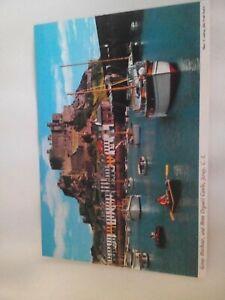 Gorey Harbour & Mont Orgueil Castle Jersey postcard