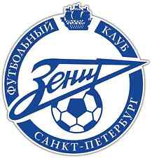 "FC Zenit Russia Football Soccer Car Bumper Sticker Decal 4.6""X4.6"""
