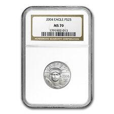 2004 1/4 oz Platinum American Eagle MS-70 NGC - SKU #20523