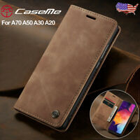 For Samsung Galaxy A70 A50 A30 A20 Magnetic Leather Flip Wallet Phone Case Cover