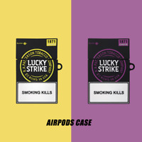 LUCKY STRIKE Cigarette Silicone Case Cover For Airpods 1st & 2nd Generation