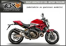 ADESIVI stickers MOTO KIT per DUCATI MONSTER 821 1200 MOTOGP TRICOLORE