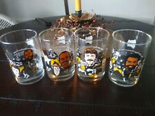 Steelers 1982 McDonalds 50th Anniversary complete set of 4 tumblers