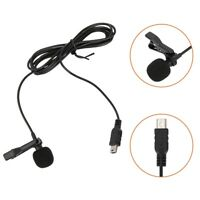USB Stereo Microphone MIC & Collar Clip External for GoPro Hero 4 3+ 3 Camera