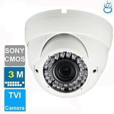 3MP HD TVI 1080P Dome Camera  Sony CMOS 2.8-12mm Varifocal OSD 42 IRs  1080P