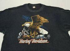 VTG 1985 Harley Davidson Eagle Motorcycle Thin 50/50 Biker T Shirt Sz XXL USA 3d