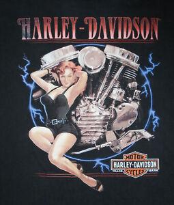 HARLEY DAVIDSON Motorcycle T-Shirt SAN ANTONIO TX Vtg Mens 5XL