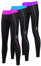 FDX Womens Compression Base Layer Tights, Pants,Skins Fitness, Running, Gym,Yoga