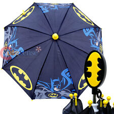 Dc Comics Batman Kids Umbrella with Bat Logo Handle Black