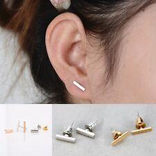 2Piece Punk Women Simple Tiny fashionable Earrings Stud Cute Bar Earring Stud
