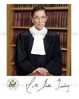 RUTH BADER GINSBURG AUTOGRAPH SIGNED 8x10 RPT PHOTO US SUPREME COURT JUSTICE