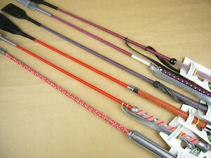 Sonderposten Reitgerte Kindergerten 65 cm 6 Stück rot orange No. 1150