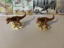 Ü Ei Kinder Joy Jurassic World 2021 VV429 T Rex Sockel Variante Ocker + Bpz