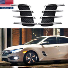 (2) Universal Shark Gills Car Side Air Flow Vents Modified Fender Sline Sticker