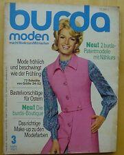 Burda Mode 03/71 JERSEY Ensemble Häkel-Bikini Mieder BH Ostern Kostüme 70er J.