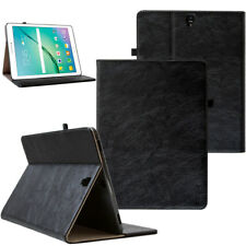 Leder Cover Samsung Galaxy Tab S3 Tablet Schutzhülle Case Tasche schwarz