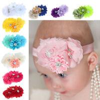 10PC Fashion Babys Girl Headband Hairband Chiffon Flower Headwear Photography