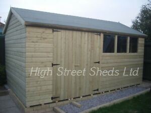 14x10 Apex Shed Extra Height T&G Log lap