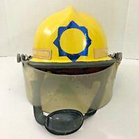 Firefighter Helmet Yellow 660 Phoenix Cairns & Bro Vintage 1981Size 13 x 11