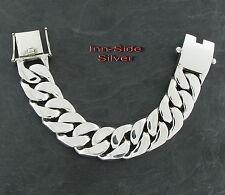 20 MM PANZERARMBAND Silberarmband Silber 925 PANZER Armband Bracelet 22cm 191gr.