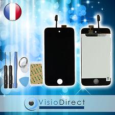 Ecran complet pour iPod touch 4 noir vitre tactile +ecran LCD sur chassis+ outil