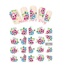 20 stickers-decals nail art water transfer Flowers-tattoo adesivi unghie Fiori !