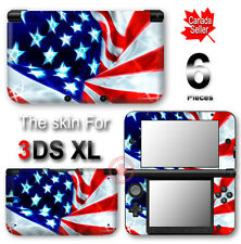 USA Flag SKIN VINYL STICKER DECAL COVER for Nintendo 3DS XL