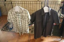 LOT OF 5 MEN'S DRESS CASUAL SHORT SLEEVE SHIRTS  15-15.5 NECK MED. CALVIN KLEIN