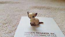 Hagen Renaker Cat Sitting Kitten Siamese Figurine Miniature Free Shipping 00368