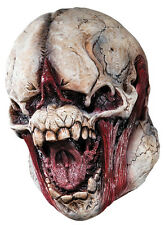 Halloween LifeSize Costume MONSTER SKULL LATEX DELUXE MASK Haunted House NEW