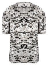 Badger Adult New Self Fabric Collar Polyester Digital Camo Sport T-Shirt. 4180