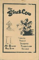 Vintage THE BLACK COW Restaurant Menu, 561 Ramona Palo Alto, California