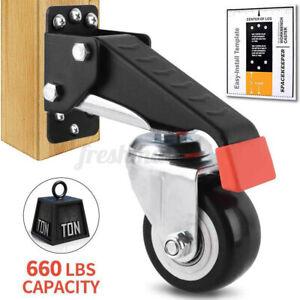 1/2x Workbench Caster Kit Heavy Duty Castor Wheels Work Bench Furniture Table