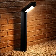Auraglow Black Outdoor 13w Integrated LED Warm White Path Lamp Post Pillar Light