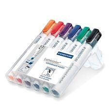 Staedtler Lumocolor Whiteboard Marker 351 B with Chisel Tip - Assorted, Pack of