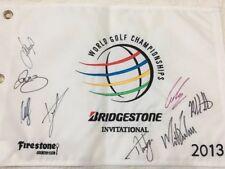 Rory McIlroy Bubba Watson Signed Autographed Golf Flag WGC Bridgestone