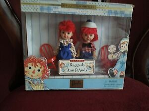 RAGGEDY ANN & ANDY DOLL SET 1999 MATTEL Barbie Tommy & Kelly , never opened