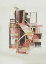 Stairs, Provincetown, 1920, CHARLES DEMUTH, Modernist, Impressionist Art Poster