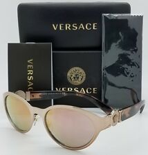 e30026311b New Versace sunglasses VE2179 13614Z Rose Gold Pink Cateye Oval AUTHENTIC  2179