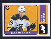 2018-19 O-Pee-Chee Retro #222 Jake DeBrusk Boston Bruins Hockey Card MINT