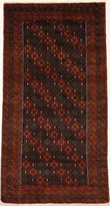 Vintage Handmade Tribal Design 3X6 Oriental Area Rug Wool Farmhouse Decor Carpet
