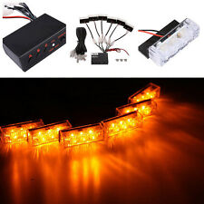 Car 18 LED Amber Strobe Emergency Flashing Police Warning Grill Light DC 12V 3W