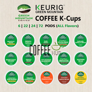 GREEN MOUNTAIN Coffee Pods K-Cups 24 Or 72 Or 96 Capsules KEURIG ALL FLAVORS ☕