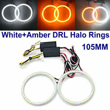105MM LED HALO RINGS SMD White Amber Dual Color LED ANGEL EYE DRL Turning Signal