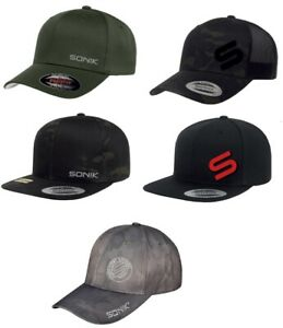 Sonik Hats FlexFit, Snapback Multicam Cap *All Types* NEW Carp Fishing Clothing