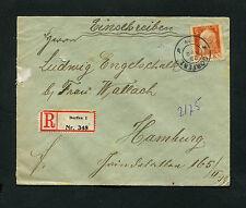 Bayern - Reko Brief aus Dorfen  nach Hamburg   (J-K4)